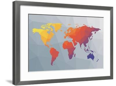 Geo Map I-Moira Hershey-Framed Art Print