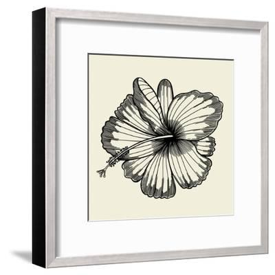 Beautiful Lily Painted in a Graphic Style Points and Lines. A Great Figure for a Tattoo- frescomovie-Framed Art Print