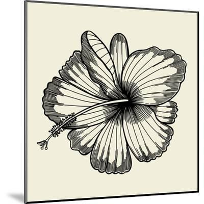 Beautiful Lily Painted in a Graphic Style Points and Lines. A Great Figure for a Tattoo- frescomovie-Mounted Art Print