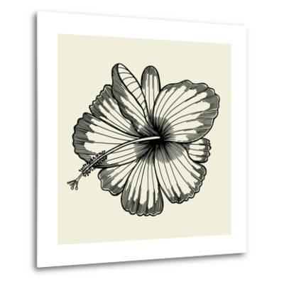 Beautiful Lily Painted in a Graphic Style Points and Lines. A Great Figure for a Tattoo- frescomovie-Metal Print