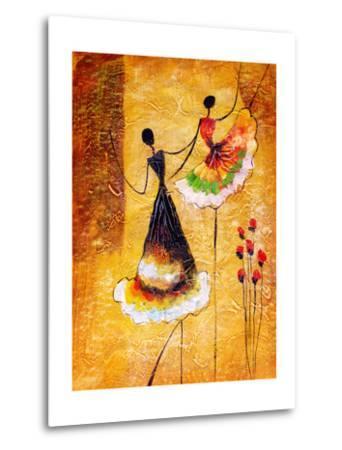 Oil Painting - Spanish Dance-CYC-Metal Print