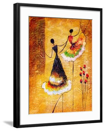 Oil Painting - Spanish Dance-CYC-Framed Art Print