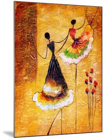 Oil Painting - Spanish Dance-CYC-Mounted Art Print