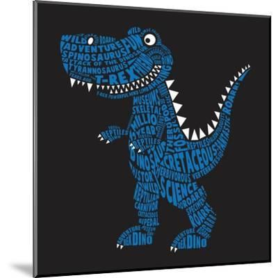 Dinosaur Illustration, Typography, T-Shirt Graphics, Vectors- Syquallo-Mounted Art Print