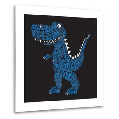 Dinosaur Illustration, Typography, T-Shirt Graphics, Vectors- Syquallo-Metal Print