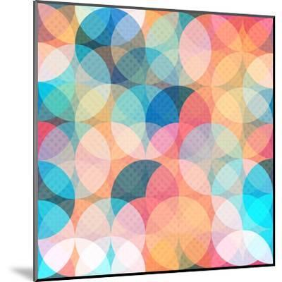 Colored Circle Seamless Pattern- gudinny-Mounted Art Print
