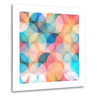 Colored Circle Seamless Pattern- gudinny-Metal Print