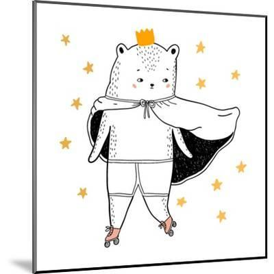Bear Drawing - Funny Vector Children Illustration- lenaer-Mounted Art Print