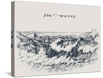 Sea or Ocean Waves Drawing  Sea View, Waves Breaking on the Beach Art Print  by Danussa | Art com