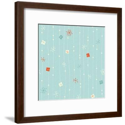 Vintage Winter Pattern-orangeberry-Framed Art Print