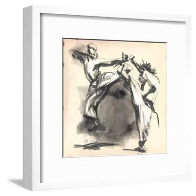 An Hand Drawn Converted Vector in Calligraphic Style from Series Martial Arts: Karate. Karate is a-KUCO-Framed Art Print
