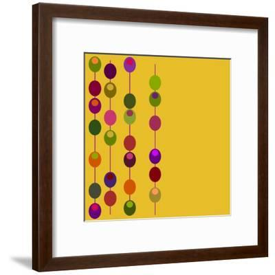 (Vector) Retro Inspired Design with Plenty of Copy Space. A Jpg Version is also Available-PZDesigns-Framed Art Print