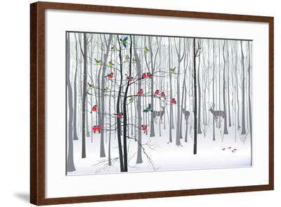 Christmas Tree in the Forest-fresher-Framed Art Print
