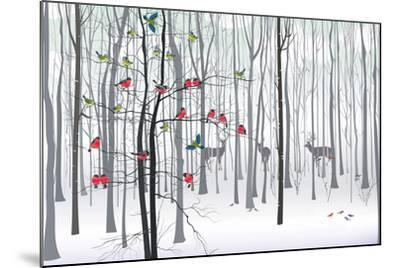 Christmas Tree in the Forest-fresher-Mounted Art Print