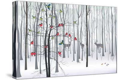 Christmas Tree in the Forest-fresher-Stretched Canvas Print