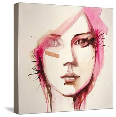 Watercolor Portrait of Beautiful Girl | Handmade | Self Made | Painting- re_bekka-Stretched Canvas Print