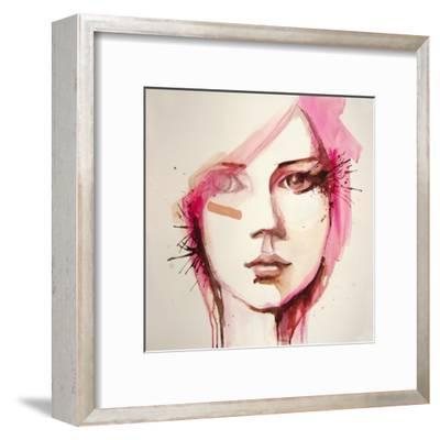 Watercolor Portrait of Beautiful Girl | Handmade | Self Made | Painting- re_bekka-Framed Art Print