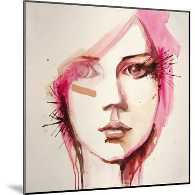 Watercolor Portrait of Beautiful Girl | Handmade | Self Made | Painting- re_bekka-Mounted Art Print