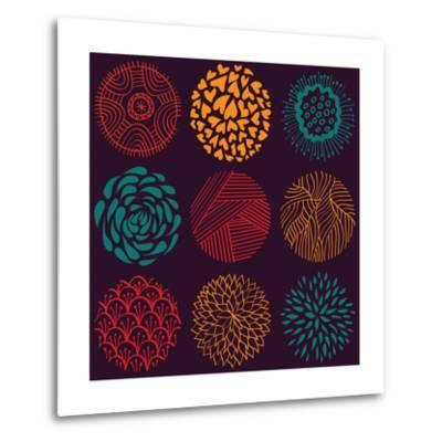 Seamless Circle Pattern- Lunarus-Metal Print