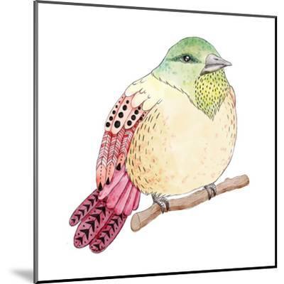 Watercolor Birds Illustration. Hand Drawn Sketch-Maria Sem-Mounted Art Print
