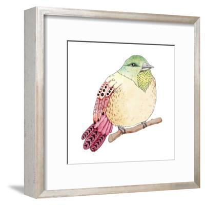 Watercolor Birds Illustration. Hand Drawn Sketch-Maria Sem-Framed Art Print