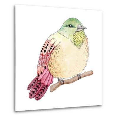 Watercolor Birds Illustration. Hand Drawn Sketch-Maria Sem-Metal Print