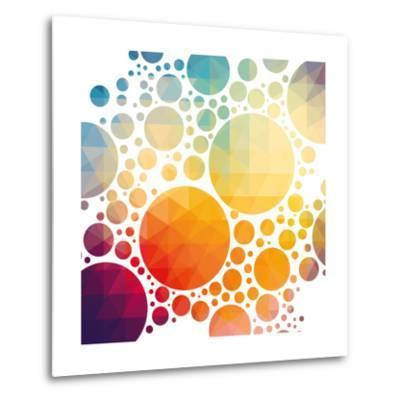 Vector Illustration of Colorful Geometric Background with Circles-Artem Kovalenco-Metal Print