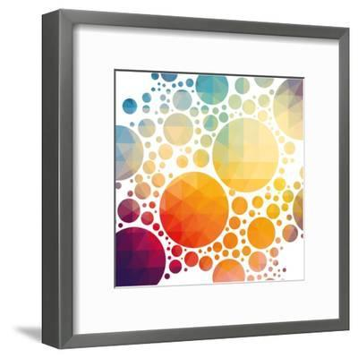 Vector Illustration of Colorful Geometric Background with Circles-Artem Kovalenco-Framed Art Print