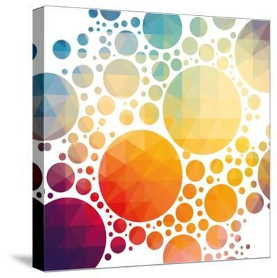 Vector Illustration of Colorful Geometric Background with Circles-Artem Kovalenco-Stretched Canvas Print
