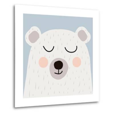 Illustration of Cute Bear-Guaxinim-Metal Print