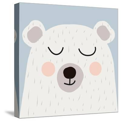 Illustration of Cute Bear-Guaxinim-Stretched Canvas Print