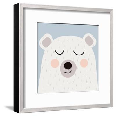 Illustration of Cute Bear-Guaxinim-Framed Art Print