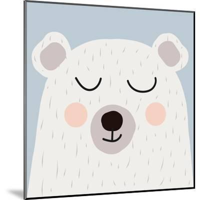 Illustration of Cute Bear-Guaxinim-Mounted Art Print