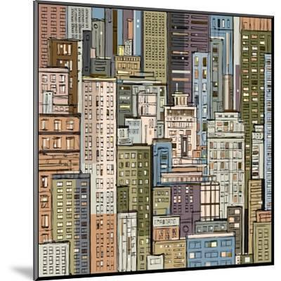 Cityscape. Hand Drawn Vector-dahabian-Mounted Art Print