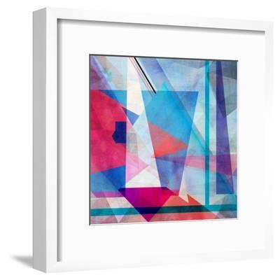 Bright Colorful Abstract Background of the Various Elements on Watercolor Background-Tanor-Framed Art Print