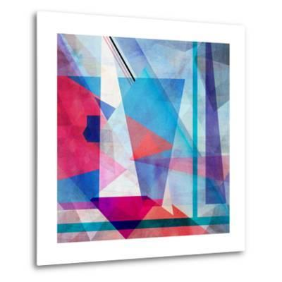 Bright Colorful Abstract Background of the Various Elements on Watercolor Background-Tanor-Metal Print