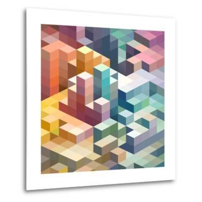 Abstract Background of Geometric Shapes-theromb-Metal Print