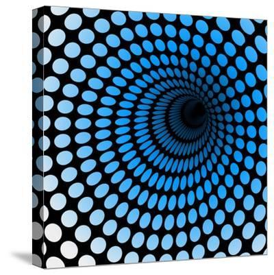 Hi Tech Blue Tunnel, Digital Dynamic Wallpaper, Technology, Science Background. See Others in My Po- artcalin-Stretched Canvas Print