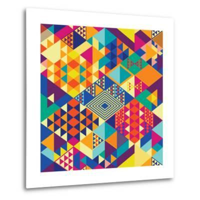 Background with Decorative Geometric and Abstract Elements. Vector Illustration.-emirilen-Metal Print