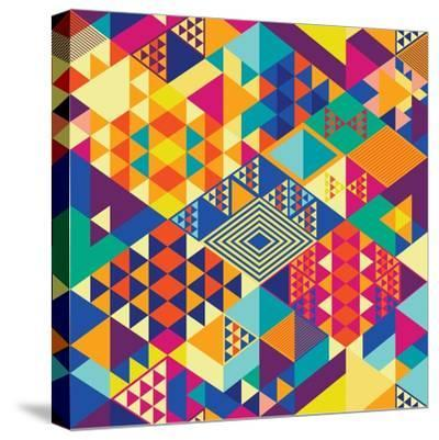 Background with Decorative Geometric and Abstract Elements. Vector Illustration.-emirilen-Stretched Canvas Print