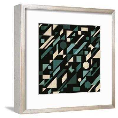 Abstract Pattern with Geometric Shapes-Magnia-Framed Art Print