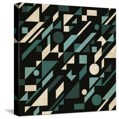 Abstract Pattern with Geometric Shapes-Magnia-Stretched Canvas Print
