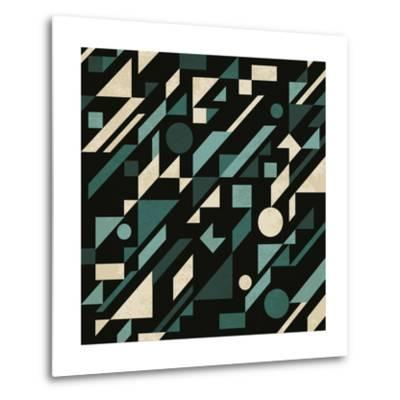 Abstract Pattern with Geometric Shapes-Magnia-Metal Print