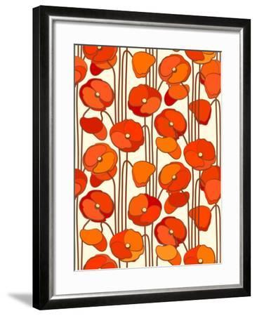 Poppies. Seamless Background.- isveta-Framed Art Print