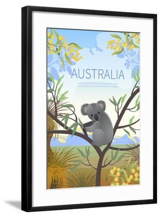 Australian Landscape Poster. Every Element is Located on a Separate Layer. Images is Cropped with C-Annareichel-Framed Art Print