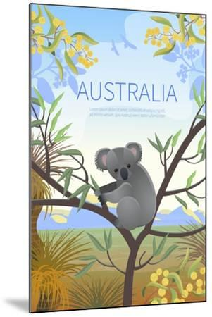 Australian Landscape Poster. Every Element is Located on a Separate Layer. Images is Cropped with C-Annareichel-Mounted Art Print