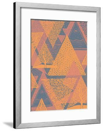 Cover Design with Triangles. Vector Illustration.-jumpingsack-Framed Art Print