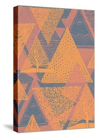 Cover Design with Triangles. Vector Illustration.-jumpingsack-Stretched Canvas Print