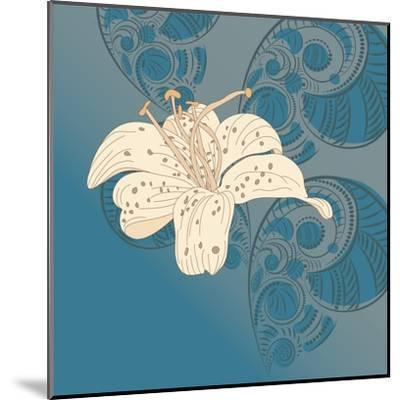 Lily on Floral Background.- alex makarova-Mounted Art Print
