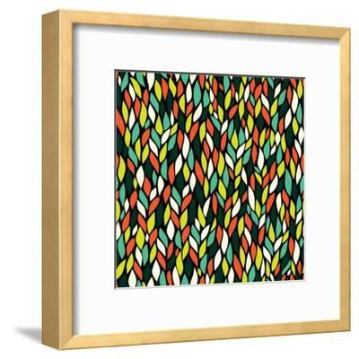 Vector Seamless Abstract Hand-Drawn Pattern with Leaf-Markovka-Framed Art Print
